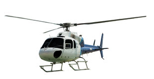 Multi-engine helicopter with working propeller Royalty Free Stock Image