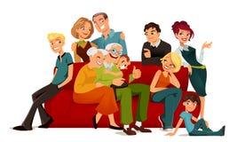 Multi Erzeugungsfamilie Lizenzfreie Abbildung
