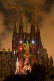 Multi esposizione di media di Sagrada Familia immagine stock