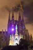 Multi esposizione di media di Sagrada Familia fotografia stock