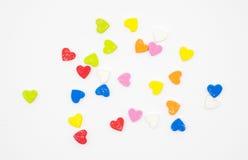Multi espuma da forma do coração da cor Imagens de Stock