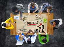 Multi-Ethnc Group of People in a Meeting and Success Concepts Royalty Free Stock Photography
