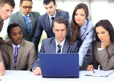 Multi ethnic business executives Stock Photo