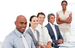 Multi-ethnic business group at a presentation Royalty Free Stock Images