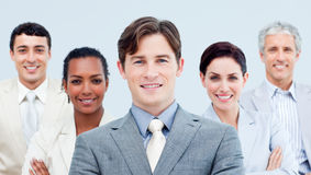 Multi-ethnic business partners standing Royalty Free Stock Images