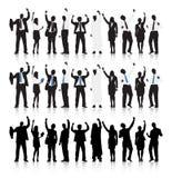 Multi-ethnic Business people Celebration royalty free illustration