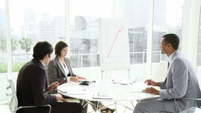 Multi ethnic business people coworkers interacting in a meeting Stock Photography