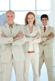 Multi-ethnic business people with folded arms Royalty Free Stock Photography
