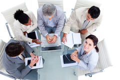 Multi-ethnic business people in a meeting Stock Image