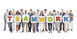 Multi-Ethnic Business People and Teamwork Concepts Stock Image