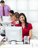 Multi-ethnic business people working Stock Photography