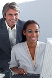 Multi-ethnic business people working together Royalty Free Stock Images