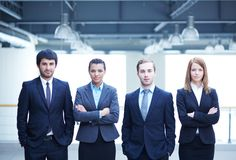 Multi-ethnic business team Royalty Free Stock Photo