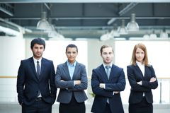 Multi-ethnic business team Royalty Free Stock Photos