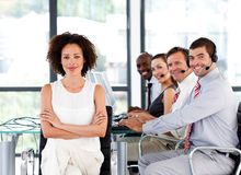 Free Multi-ethnic Business Team In A Call Center Stock Images - 9892834