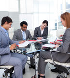 Multi-ethnic business team in a meeting Stock Photography