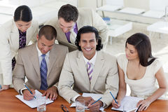 Multi-ethnic business team in a meeting Royalty Free Stock Photography