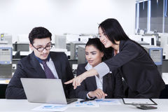 Multi ethnic businesspeople in a meeting Stock Images