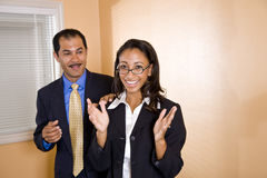 Multi-ethnic businesspeople in office boardroom Royalty Free Stock Photography