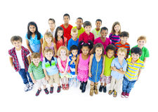 Multi-ethnic Chidren in casual wear.  Stock Photos