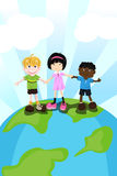 Multi ethnic children Royalty Free Stock Image