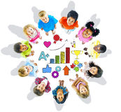 Multi-Ethnic Children with Good Performance Concepts Royalty Free Stock Images