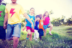 Multi-Ethnic Children Walking Together stock image