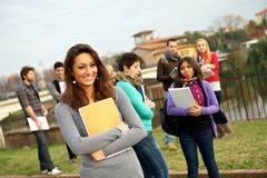 Multi-Ethnic college Students stock photo