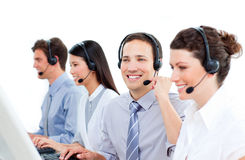 Multi-ethnic customer service agents Royalty Free Stock Photography