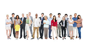 Multi-Ethnic And Diverse Occupational People. Group of multi-ethnic and diverse occupational people in a white background Stock Photography