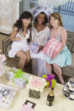 Multi Ethnic Friends Celebrating Hen Party stock images