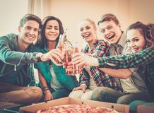 Multi-ethnic friends having party Stock Images