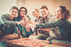 Multi-ethnic friends having party Royalty Free Stock Photos