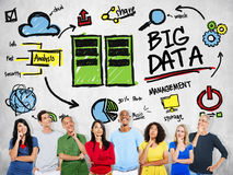 Multi Ethnic Group Big Data Imagination Concept Stock Photo