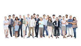 Multi-Ethnic Group Of Business People. Multi-Ethnic Group Of Business And Casual People Posing And Looking At Camera Royalty Free Stock Photos