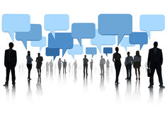 Multi-ethnic Group Business People Speech Bubble Concept Stock Images