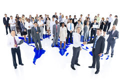 Multi-Ethnic Group Business People World Map Concept Royalty Free Stock Image
