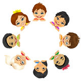 Multi ethnic group of children Royalty Free Stock Image