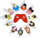 Multi-Ethnic Group of Children and Play Concepts Stock Photos