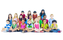 Multi-ethnic Group of Children Sitting Royalty Free Stock Photography