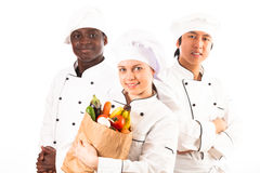 Multi-ethnic Group Of Cooks royalty free stock images