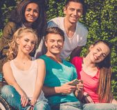 Multi ethnic group of friends Stock Photos