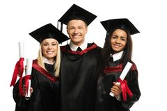Multi ethnic group of graduated students Royalty Free Stock Image