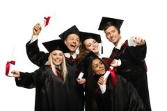 Free Multi Ethnic Group Of Graduated Students Stock Photography - 40984672