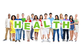 Free Multi-Ethnic Group Of People Holding Alphabet To Form Health Royalty Free Stock Photo - 41076065
