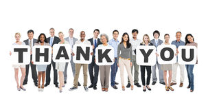 Free Multi-Ethnic Group Of People Holding Letters Thank You Stock Image - 41316031