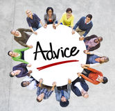 Multi-Ethnic Group of People and Advice Concepts Stock Photos