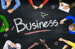 Multi-Ethnic Group of People and Business Concept Royalty Free Stock Photos