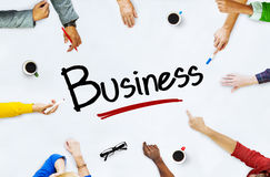 Multi-Ethnic Group of People and Business Concept Stock Image