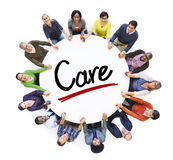 Multi-Ethnic Group of People and Care Concepts Stock Photography